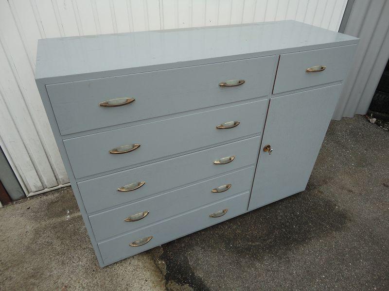 kommode chest of drawers loft industrie design entwurf 50 s 50er 60 s 60er ebay. Black Bedroom Furniture Sets. Home Design Ideas
